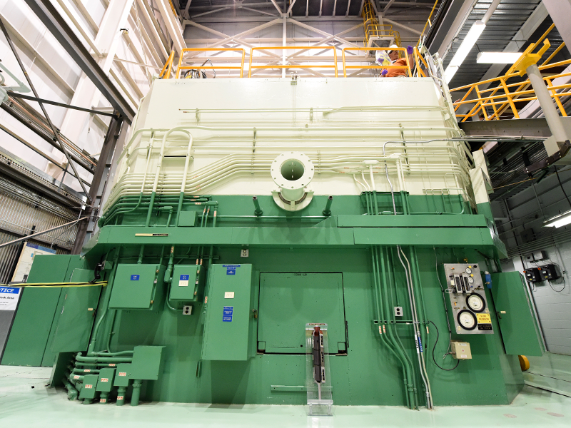 Exterior shot of a test reactor at Idaho National Laboratory.