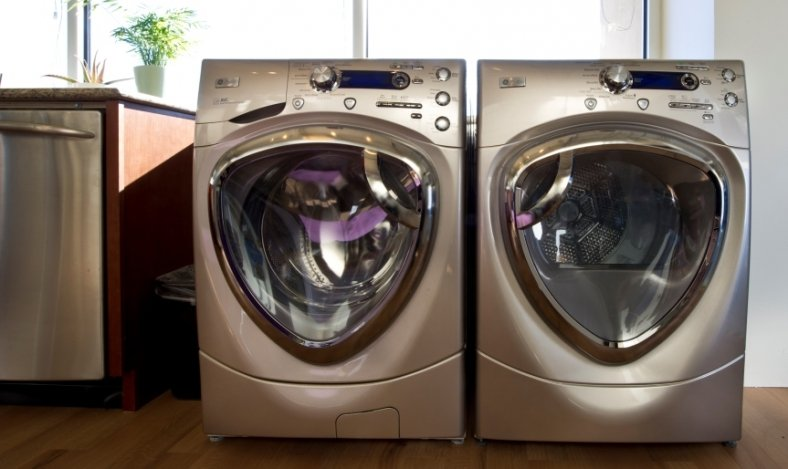Washer and dryer.