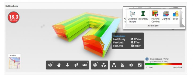 Screenshot of EnergyPlus software.
