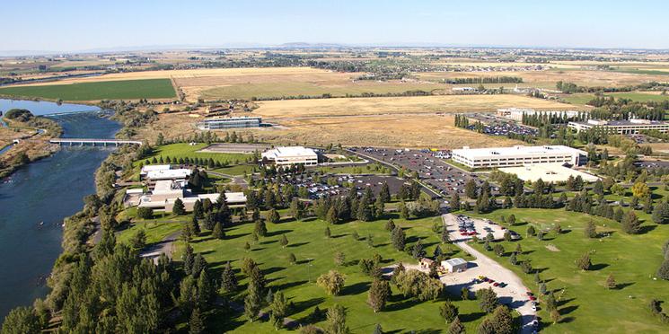 Aerial photo of Idaho National Lab.