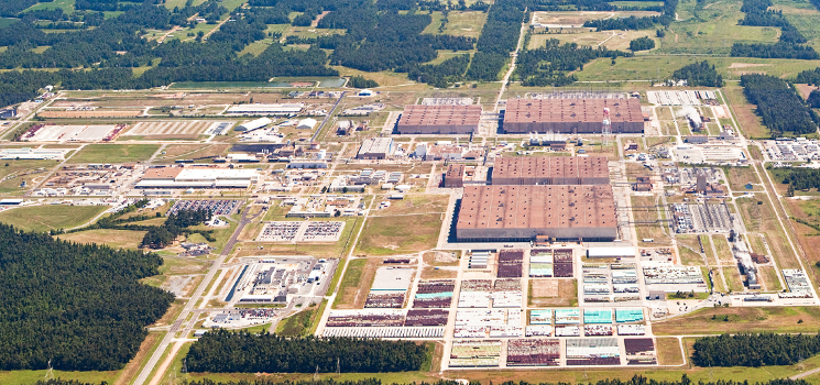 Aerial view of the Paducah Gaseous Diffusion Plant.