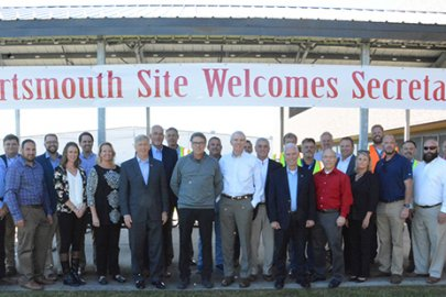 Secretary Rick Perry Tours Portsmouth Site D&D Projects