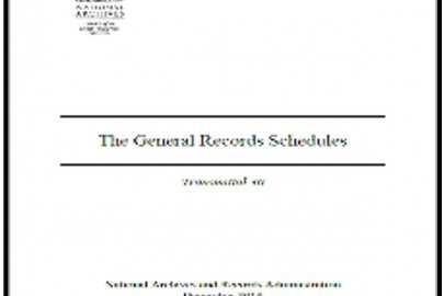 NARA General Records Schedules (GRS) Transmittal 31