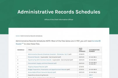 Administrative Records Schedules