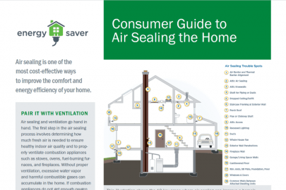 Consumer Guide to Air Sealing the Home Fact Sheet