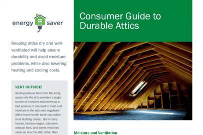 Consumer Guide to Durable Attics Fact Sheet