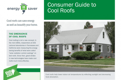Consumer Guide to Cool Roofs Fact Sheet