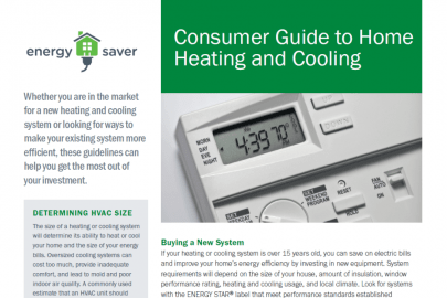 Consumer Guide to Home Heating and Cooling Fact Sheet