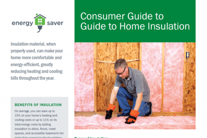 Consumer Guide to Home Insulation Fact Sheet
