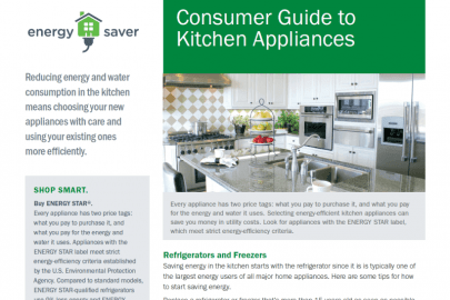 Consumer Guide to Kitchen Appliances Fact Sheet