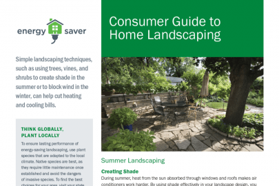Consumer Guide to Home Landscaping Fact Sheet