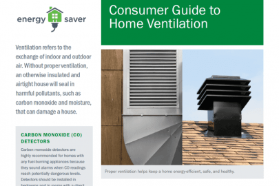 Consumer Guide to Home Ventilation Fact Sheet