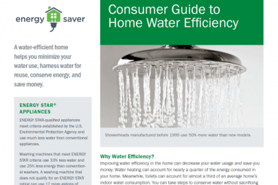 Consumer Guide to Home Water Efficiency Fact Sheet
