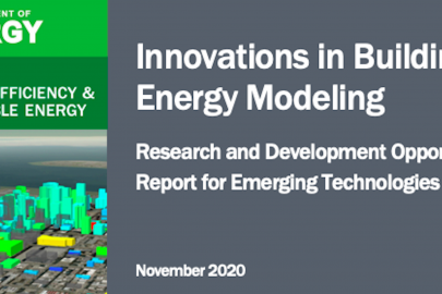 DOE Publishes Research and Development Opportunities Document for Building Energy Modeling