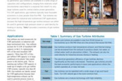 Gas Turbines CHP Technology Fact Sheet, July 2016