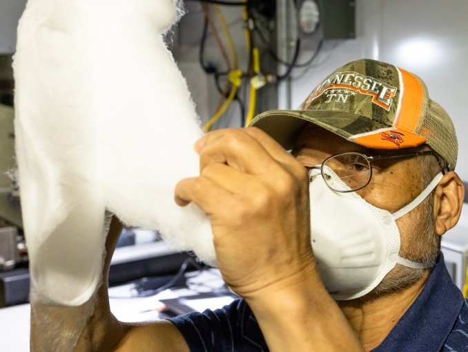 Producing N95 fabric that could be used in masks