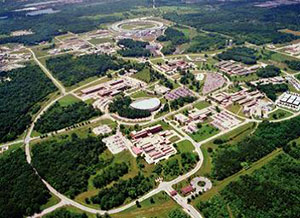 Aerial image of Argonne National Laboratory.
