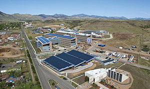 Aerial image of the National Renewable Energy Laboratory.