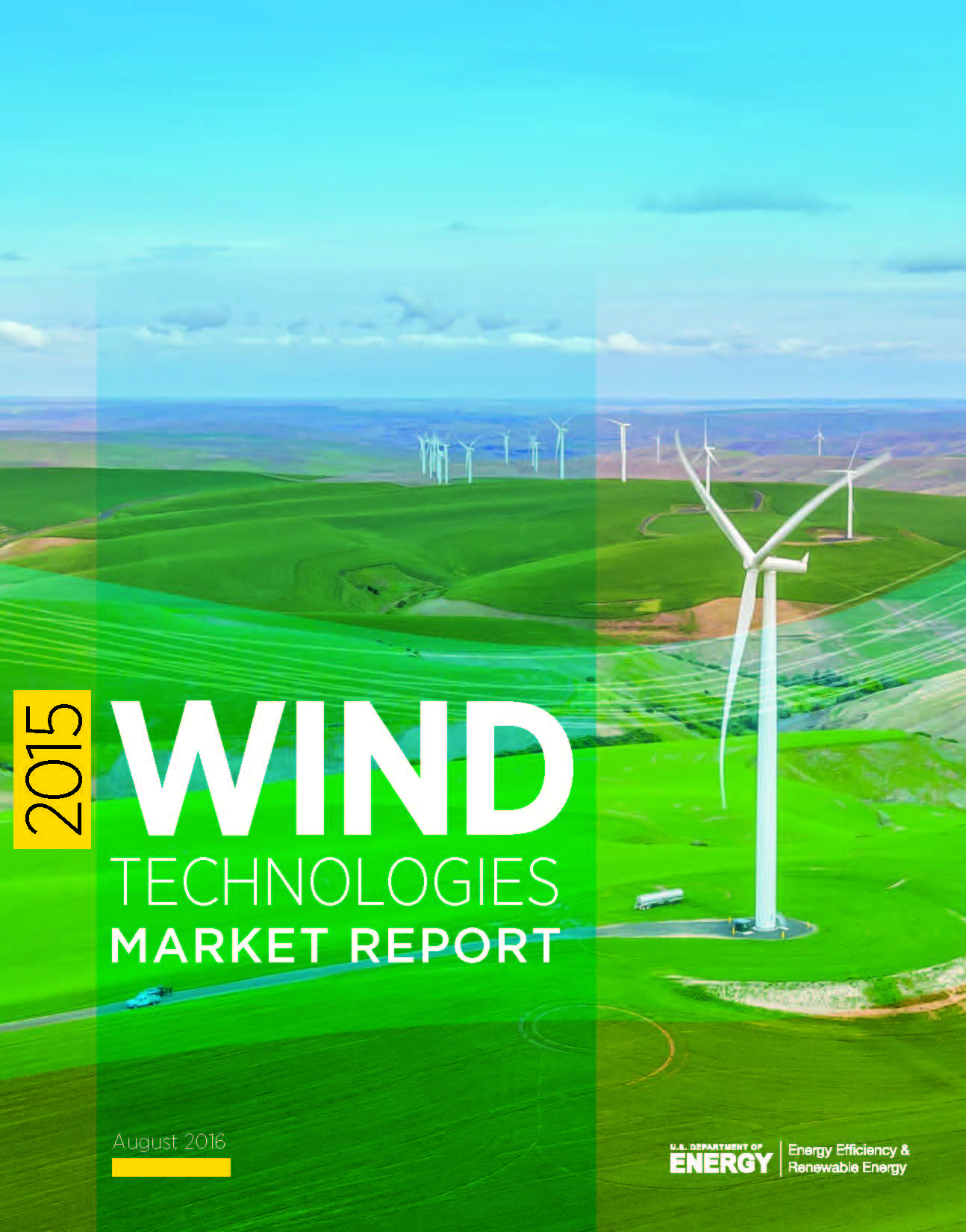 The cover to the 2015 Wind Technologies Market Report.
