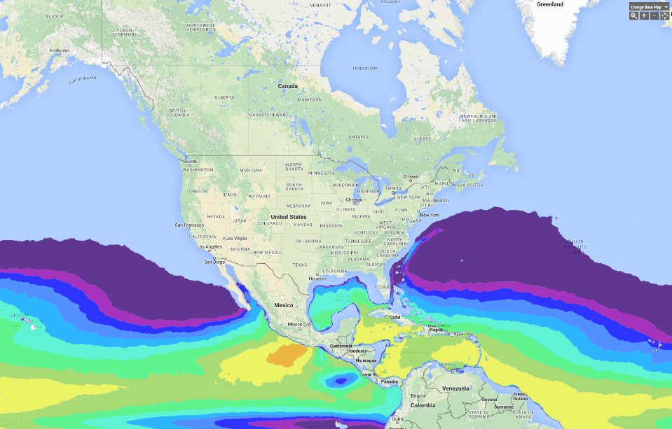 Marine And Hydrokinetic Resource Assessment And Characterization - Us map with oceans and rivers