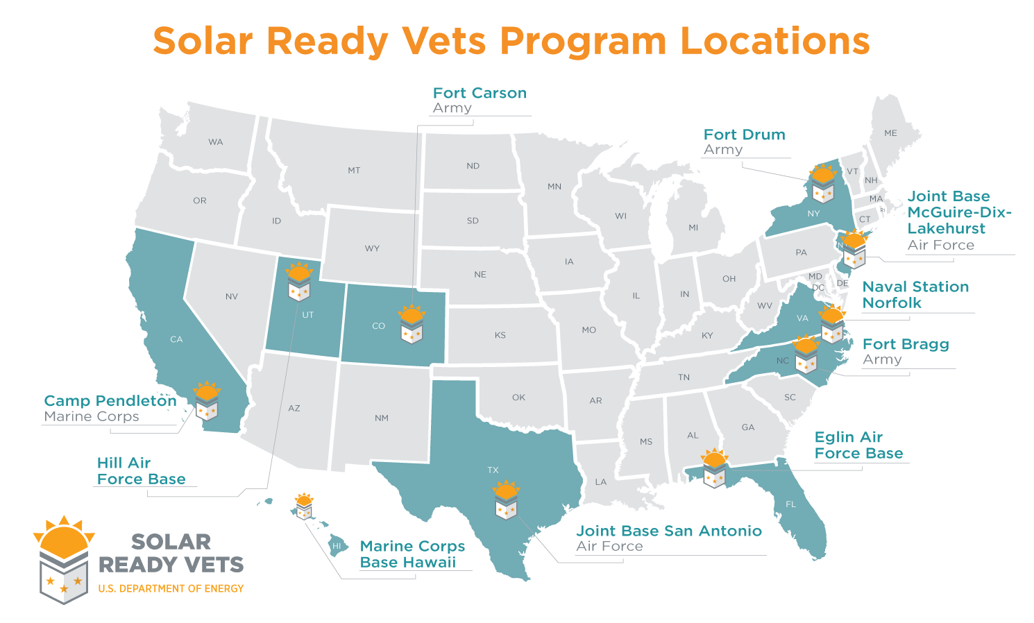 Solar Ready Vets Department Of Energy - Map of us military bases in florida