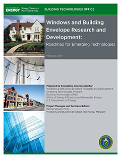 Cover of windows and envelope report, depicting a house, storefront, and multiple office windows.