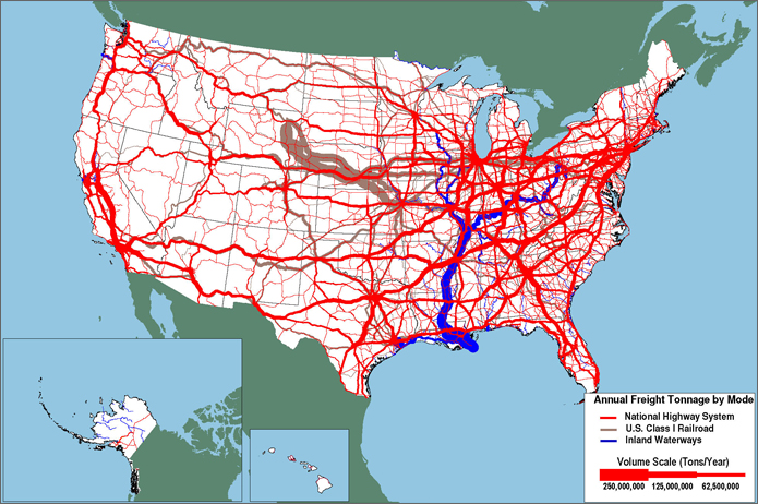 Fact December New Freight Analysis Tool - Map of the railroad system in the us