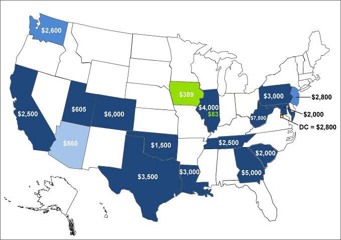 Fact July Comparison Of State Incentives For Plug - Map of us purchases
