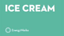 An image bearing the words 'ICE CREAM' with the EnergyWorks logo at the bottom.