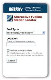 alternative fuel station locator mobile app