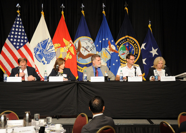 The first panel of the symposium, focused on ensuring the credibility of nuclear deterrence and assurance capabilities, moderated by Madelyn Creedon.