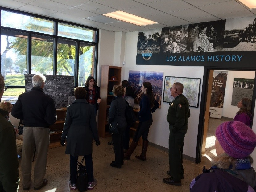 The NPS shared a visitor center with the Los Alamos Historical Society.