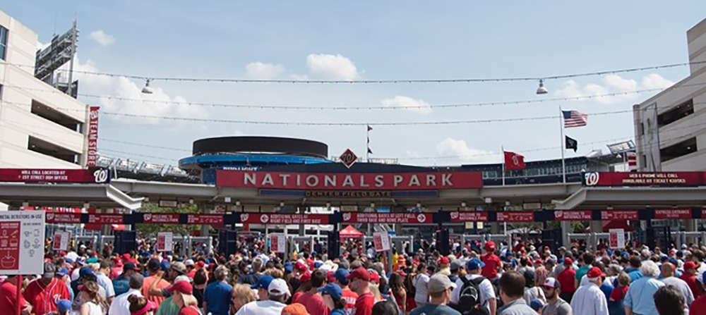 It was a beautiful day for a baseball game at Nationals Park.