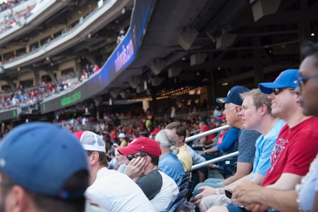 "Chief of Staff and Associate Principal Deputy Administrator William ""Ike"" White (in light blue) hoping for a home run."