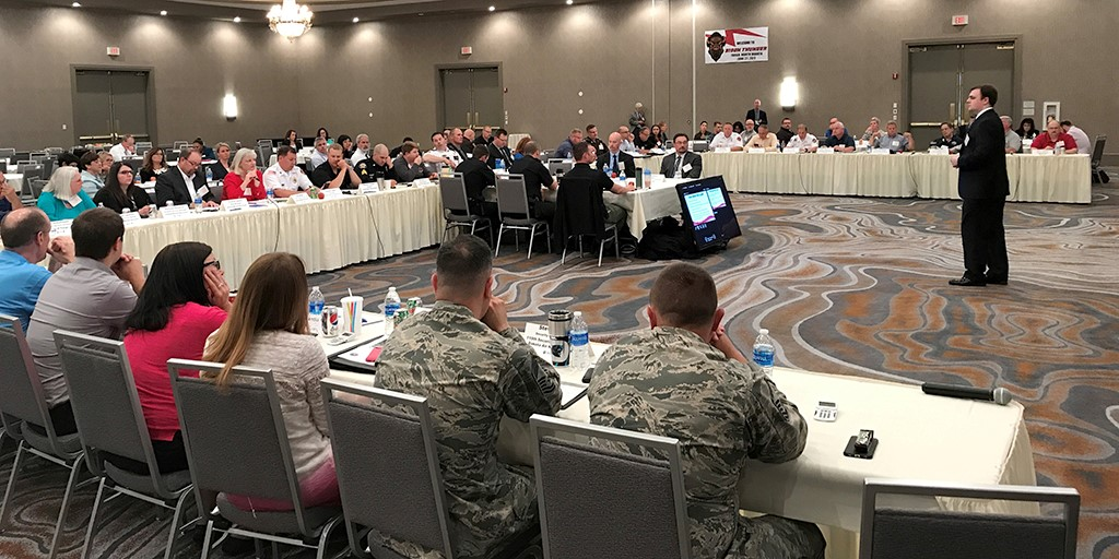 Emergency responders and law enforcement officials from Fargo and the surrounding attend Bison Thunder, a weapons of mass destruction counterterrorism exercise in Fargo, N.D.