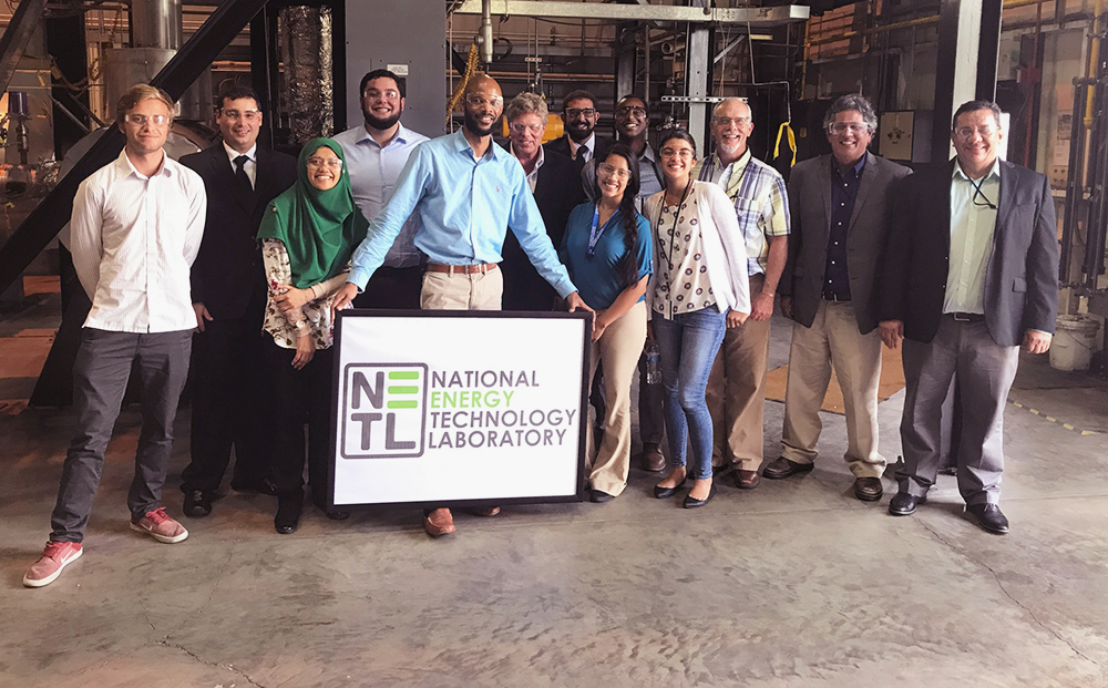 Site visit with students and faculty from the Consortium for Integrating Energy Systems in Engineering and Science Education at the National Energy Technology Laboratory in Morgantown, West Virginia.