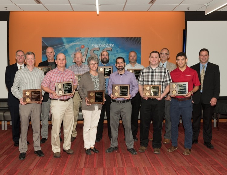 Kansas City National Security Campus employees with their Defense Programs awards.