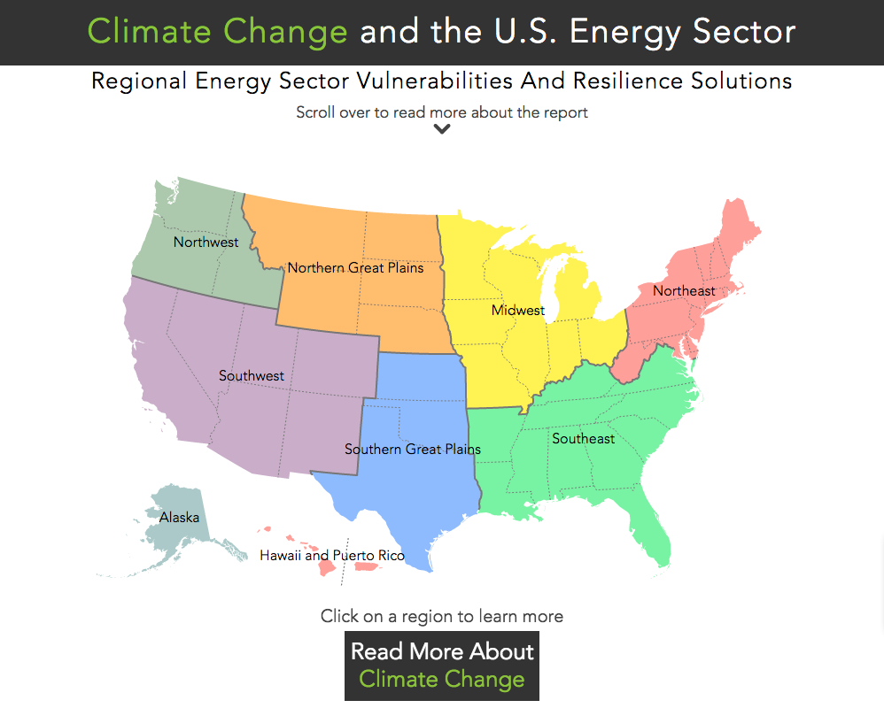 Map How Climate Change Threatens Americas Energy Infrastructure In - Map-of-us-regions