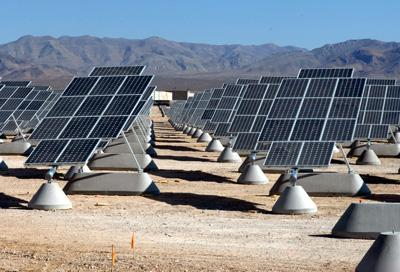 The solar array at Nellis Air Force Base in Nevada consists of 70,000 panels. | Photo by Larry E. Reid Jr./U.S. Air Force