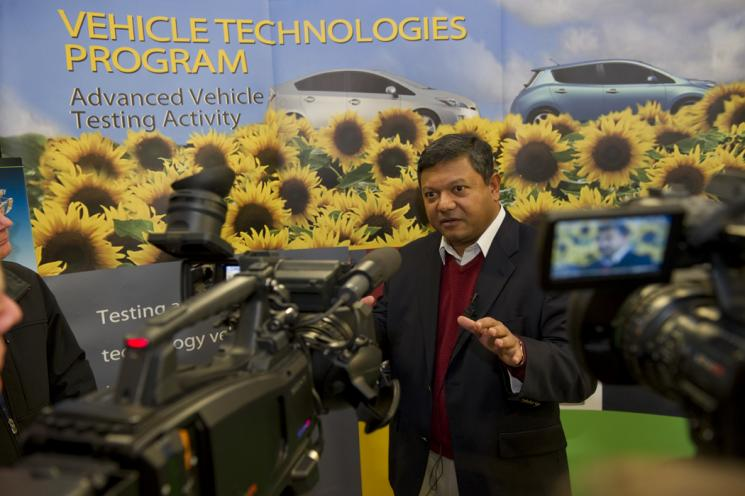 Arun Majumdar speaks at Idaho National Lab (INL) during a visit to the site earlier this week. | Photo courtesy of INL.