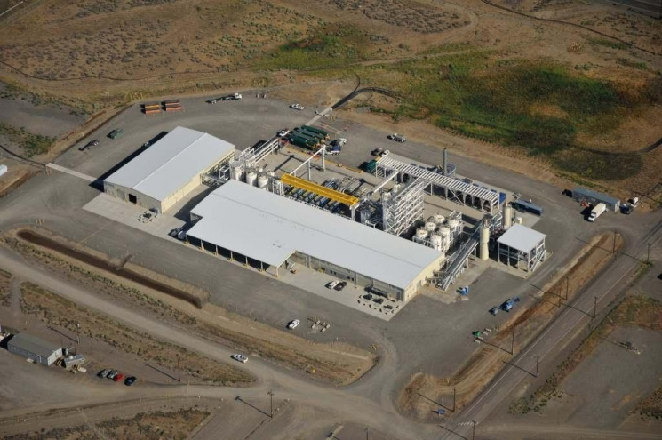 The 200 West Groundwater Treatment Facility is shown here after completion of construction this summer. | Photo courtesy of Zachary Carter with Mission Support Alliance (MSA) at Hanford.