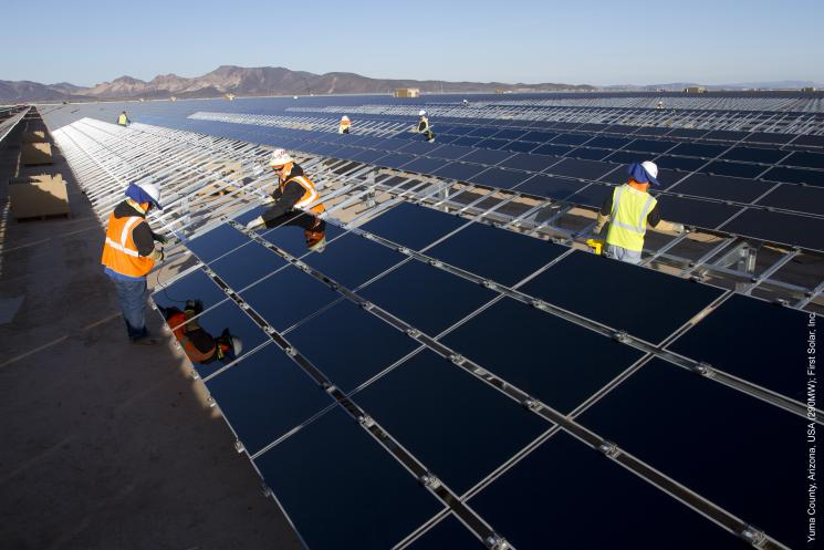 The Agua Caliente Solar Project has installed nearly 3 million solar panels. | Image courtesy of First Solar