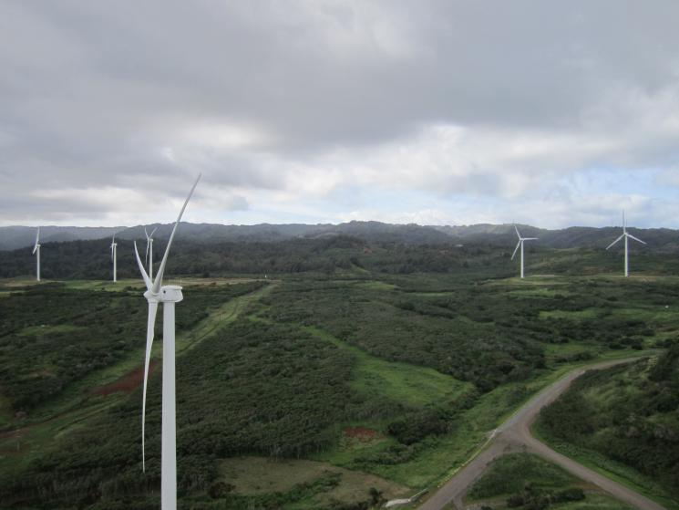 First Wind's Kahuku Wind Project in Oahu, Hawaii, for example, has been operating since March of last year, providing clean, renewable power to 6,000 homes.  The economic benefits of the project are substantial -- with wind turbines assembled in Iowa, an advanced energy storage supplied by a Texas company, and a supply chain that extended to more than 100 businesses in 20 states. | Image courtesy of First Wind