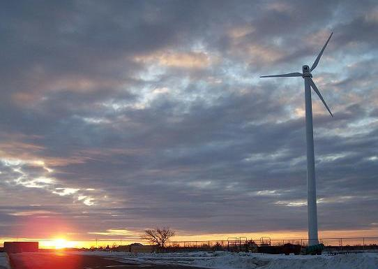 One of Riley County Public Works' new wind turbines. | Courtesy of: Riley County Public Works