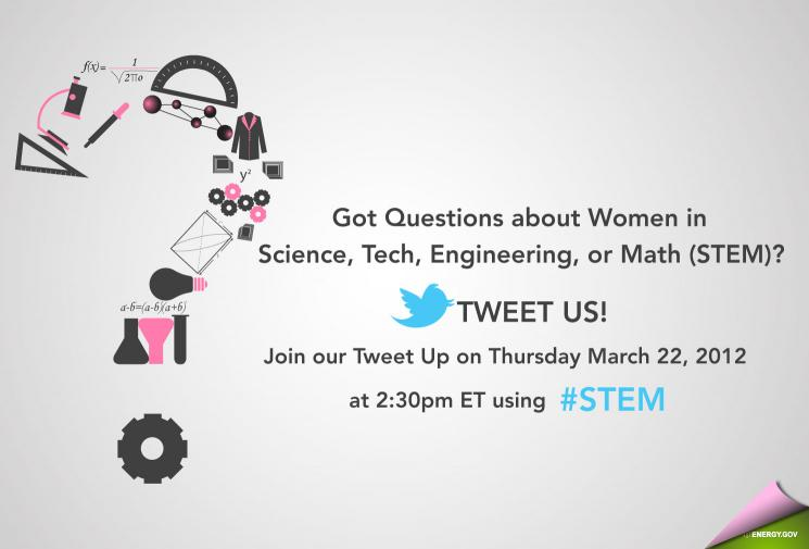 Join the Conversation – Get on #STEM on Twitter.com at 2:30ET Today
