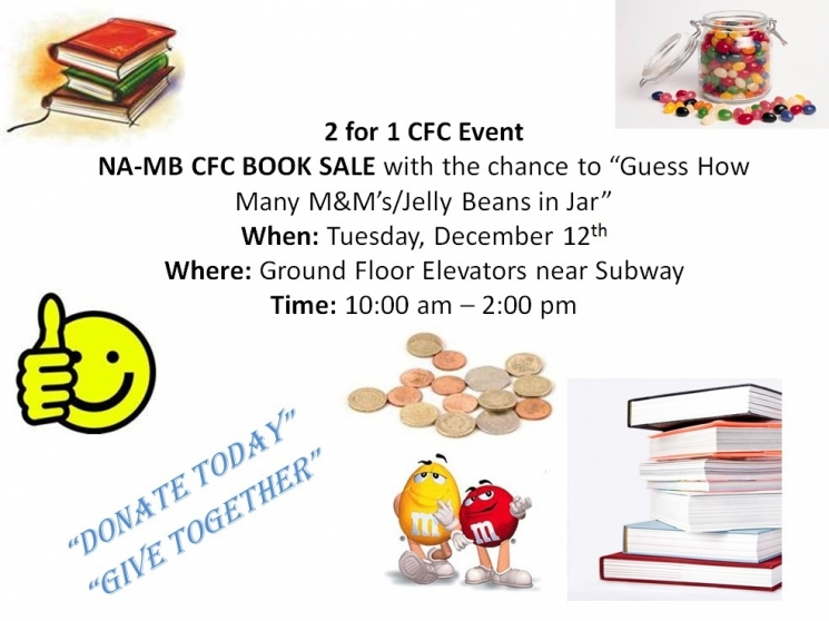 CFC Book Sale and M&M/Jelly Bean Jar