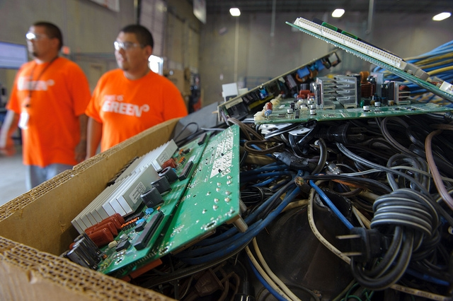 Every year, Americans generate almost 2.5 million tons of used electronics, which are made from valuable resources such as precious metals and rare earth materials, as well as plastic and glass. Photo: U.S Environmental Protection Agency