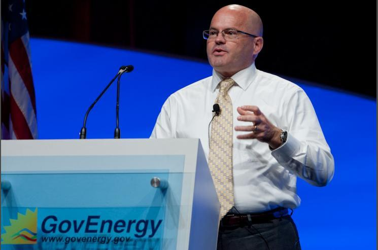 FEMP Program Manager Timothy Unruh addresses the GovEnergy 2011 crowd.