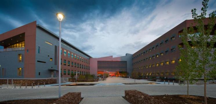 The 222,000 sq. ft. RSF has been recognized for its innovative construction and efficiency. | Courtesy of Dennis Schroeder, National Renewable Energy Laboratory staff photographer.