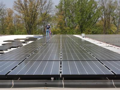 MetroTek installed a 620kW solar panel system at Buckman's Inc. in Pottstown, PA. The Recovery Act-funded project is expected to save the pool chemical business $5 million over the next 25 years. | Photo Courtesy of MetroTek Electrical Services